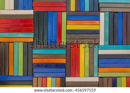 Colorful of square wall texture are made of ceramic, abstract color background. - stock photo