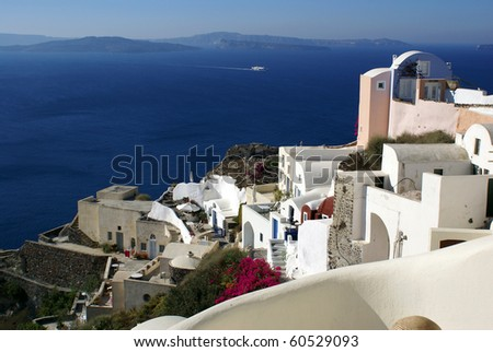 Colorful Oia - stock photo