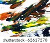 colorful oil paint palette - stock photo
