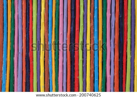colorful on wood texture background