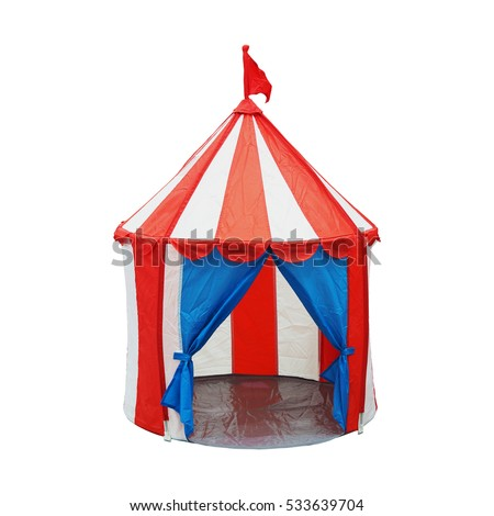 Colorful opened children circus tent with flag on top isolated on white background with clipping path  sc 1 st  Shutterstock & Colorful Opened Children Circus Tent Flag Stock Photo 533639704 ...