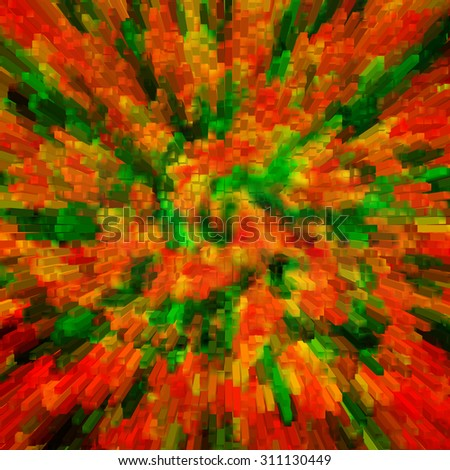 colorful orange and green background