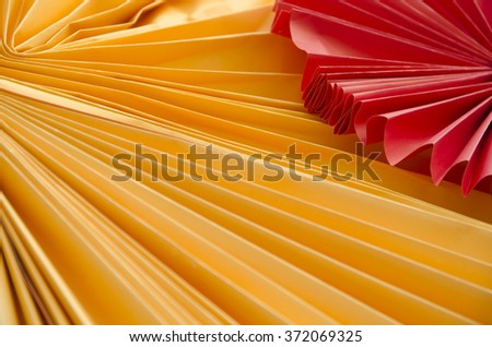 Colorful origami paper cranes. For chinese new years background - stock photo