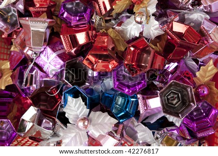 colorful ornaments items - stock photo