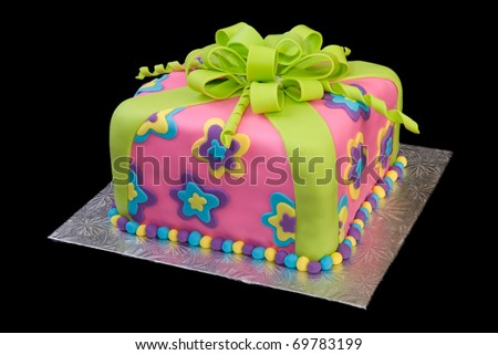Colorful Package of Cake - stock photo