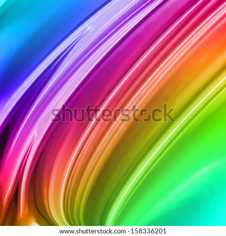 colorful paint background with some smooth lines in it - stock photo