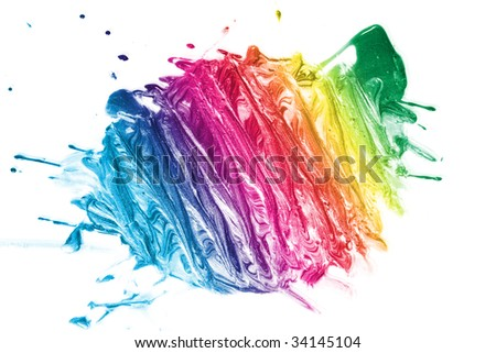 colorful paint texture - stock photo