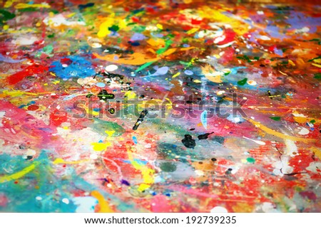 colorful paints background - stock photo