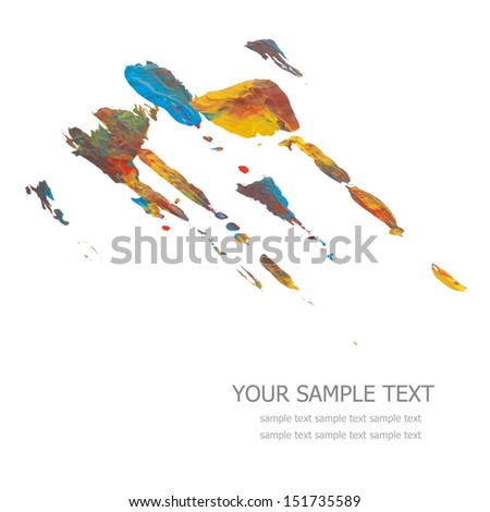 Colorful paints isolated on white - stock photo