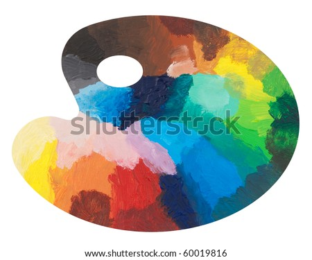 Colorful palette - stock photo