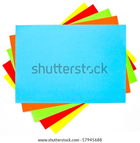 Colorful paper background set - stock photo