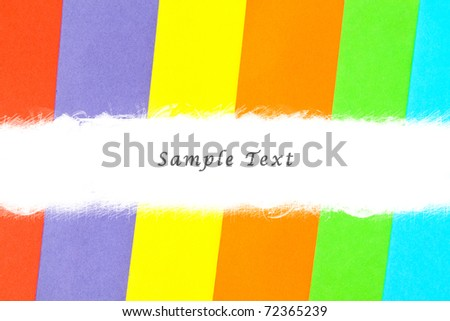 Colorful paper background set with white copy space