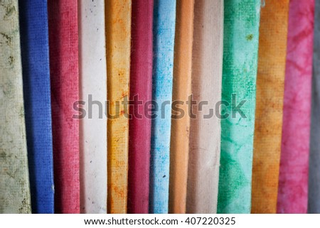 Colorful paper. Can be used as background - stock photo