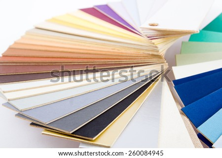 Colorful paper catalog for choose on white background