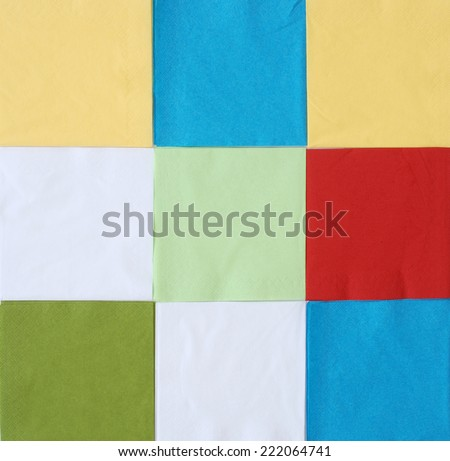 colorful paper napkins - stock photo