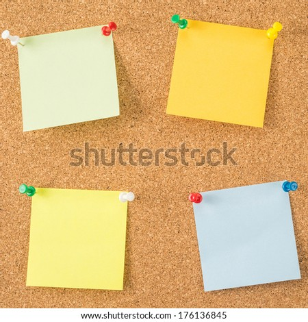 Colorful paper notes   - stock photo