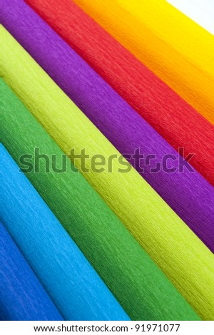 colorful paper rolls - stock photo