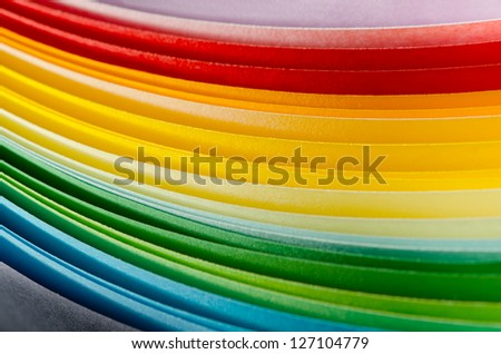 Colorful paper section in elliptical shapes - stock photo