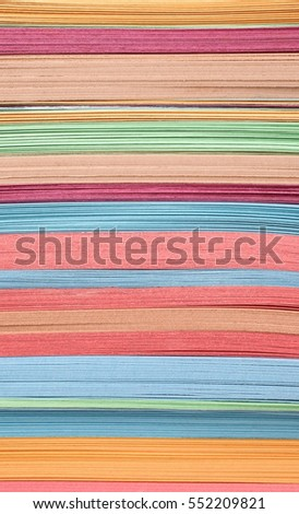 Colorful papers multicolor layers