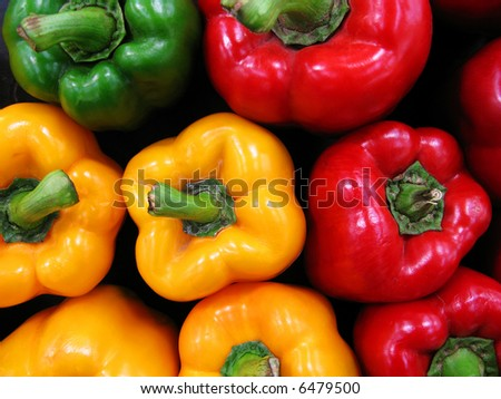 colorful paprika photo at the market - stock photo