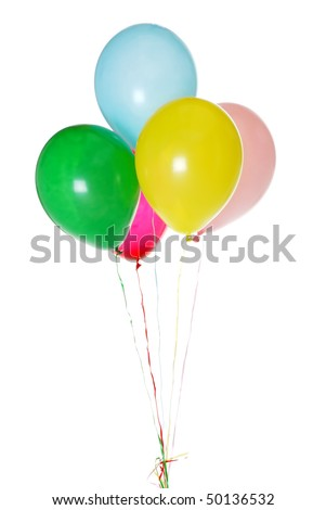 colorful party balloons - stock photo
