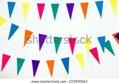 colorful party flags - stock photo