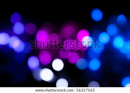 Colorful Party lights de-focused background - stock photo