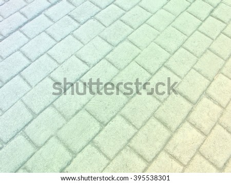 colorful pastel color concrete floor striped square for background - stock photo