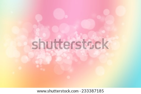 colorful pastel holiday bokeh. Abstract Christmas background - stock photo