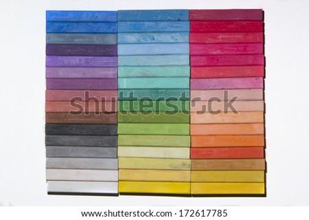 Colorful pastel sticks - stock photo