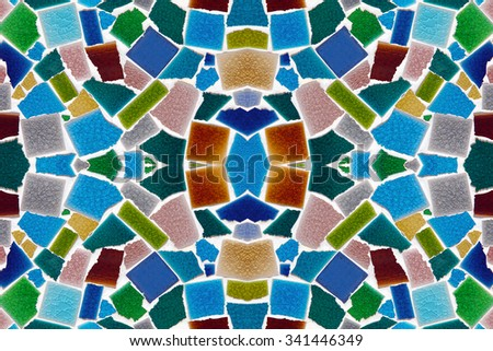 Colorful pattern ceramic tiles. - stock photo