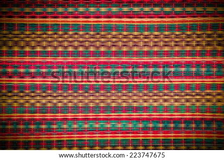 Colorful pattern of Mat backgrounds/Texture