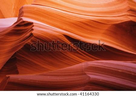 Colorful Patterns of Navajo Sandstone from Slot Canyons Page Arizona [ visible senor spots] - stock photo