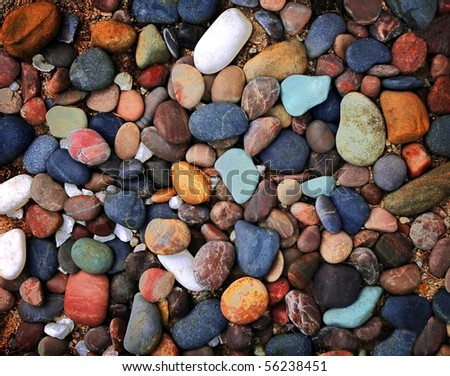 colorful pebble stone - stock photo