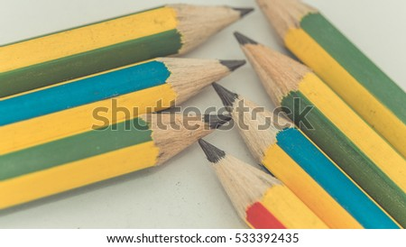 Colorful pencils (vintage style)
