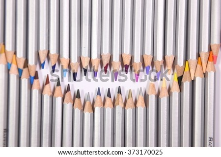 colorful pencils with white background