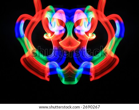 Colorful pendant abstraction - stock photo