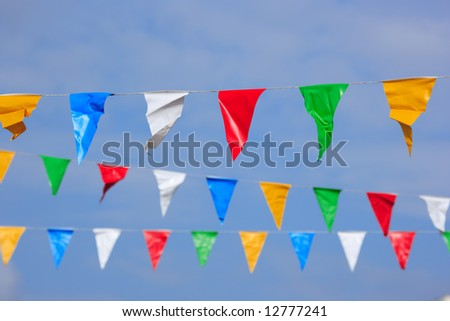 colorful pennons - stock photo