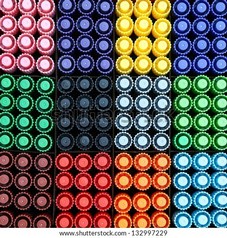 Colorful pens. - stock photo