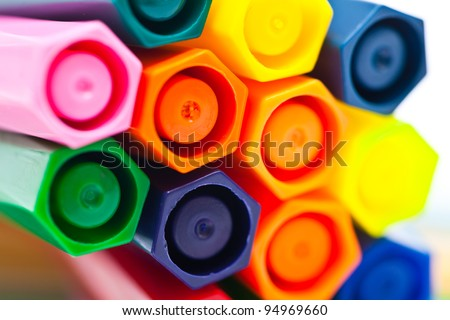 Colorful pens - stock photo