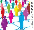 Colorful People Network - stock photo