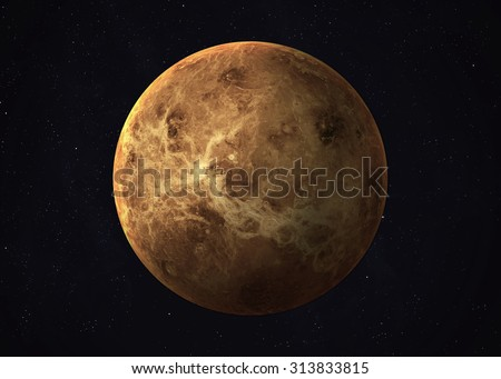 Colorful picture represents Venus. Elements of this image furnished by NASA. - stock photo
