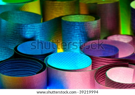 colorful pieces of paper as background