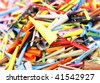 Colorful pile - stock photo