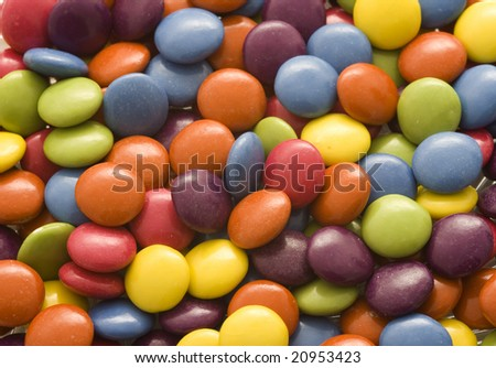 Colorful pile of candies - stock photo