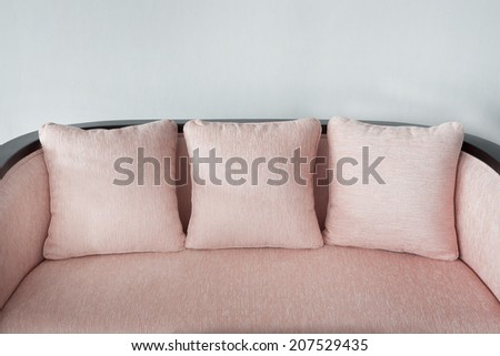 Colorful pillows on a chair