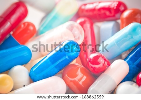 colorful pills texture, for background