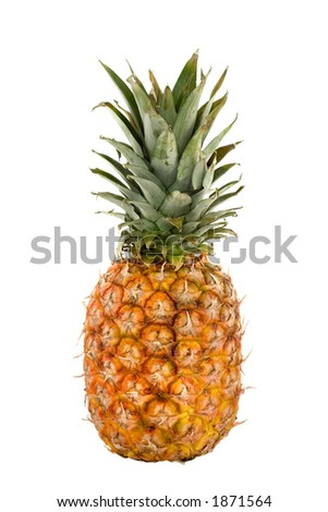 Colorful pineapple on isolated background