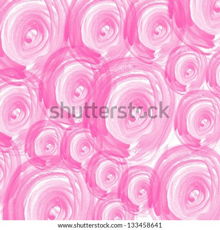 colorful pink abstract watercolor hand paint background - stock photo