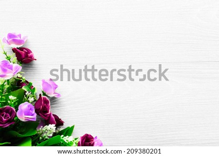 colorful pink and purple roses. space for your message. invitation design for your occasion - stock photo
